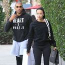 Draya Michele and Orlando Scandrick – Shopping in Beverly Hills