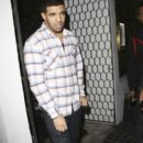 Drake outside the popular Cecconi's restaurant in West Hollywood