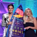 Actress Shay Mitchell attends the Teen Choice Awards 2015 at the USC Galen Center on August 16, 2015 in Los Angeles, California - 399 x 600
