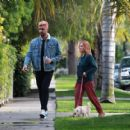 Brittany Snow – Walk her dog out in Los Angeles - 454 x 420
