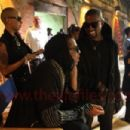 Amber Rose, Kanye West, Rihanna and Jay Z on The Set of