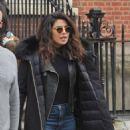 Priyanka Chopra and Marlee Matlin – On 'Quantico' Set in Dublin - 454 x 619