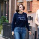 Rachel Brosnahan – 'The Marvelous Mrs. Maisel' Filming Rehearsals in Chelsea, New York - 454 x 778