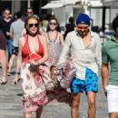 Lindsay Lohan and Egor Tarabasov– Out in Mykonos, Greece, 7/5/2016 - 454 x 644