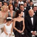 (Clockwise from top left) KIM CATTRALL as Samantha Jones, CYNTHIA NIXON as Miranda Hobbes, CHRIS NOTH as Mr. Big, DAVID EIGENBERG as Steve Brady, EVAN HANDLER as Harry Goldenblatt, KRISTIN DAVIS as Charlotte York and ALEXANDRA FONG as Lily, Charlotte'