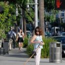 'The Mentalist' actress Robin Tunney is spotted out walking her dog in Beverly Hills, California on August 18. 2015