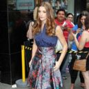 Ashley Greene outside the ABC studios on Good Afternoon America in New York City