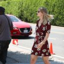 Melissa Benoist – outside the Day of Indulgence party in Brentwood