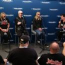 Glenn Tipton, Rob Halford and Richie Faulkner of the band Judas Priest along with host Jim Breuer attend SiriusXM's Town Hall series with Judas Priest on July 8, 2014 in New York City - 454 x 303