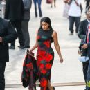 Gina Rodriguez Outside 'Jimmy Kimmel Live'