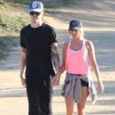 Ashley Tisdale: out for a Valentine's Day hike in Los Angeles