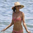 Alessandra Ambrosio in Floral Bikini in Florianopolis