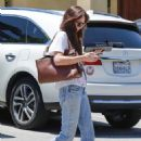 Dakota Johnson in Jeans visit to her doctor in Los Angeles - 454 x 681