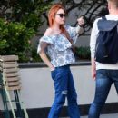 Lindsay Lohan in Jeans with friend out in New York City