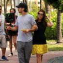 Kourtney Kardashian: stroll outside her hotel in Miami