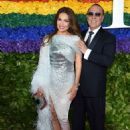 Thalia  and Tommy Mottola- 73rd Annual Tony Awards - Red Carpet - 454 x 639