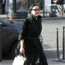 Dita Von Teese arrives at Charles de Gaulle Airport in Paris