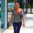 Kristin Chenoweth with her puppy shopping in Beverly Hills