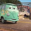 Portrait of Fillmore (voiced by George Carlin) in Buena Vista Pictures Distribution's Cars - 2006