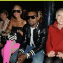 Amber Rose and Kayne West attend the Stella McCartney Ready-to-Wear A/W 2009 fashion show during Paris Fashion Week at Carreau du Temple in Paris, France -  March 9, 2009 - 454 x 320