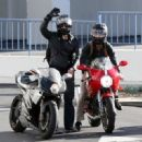 Alex Pettyfer-March 30, 2013-Connor Cruise and Alex Pettyfer Ride Their Motorcycles in West Hollywood - 454 x 330