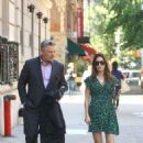 Hilaria and Alec Baldwin out in NYC - 454 x 681