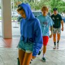 Justin Bieber and Hailey Baldwin at W Hotel in Miami