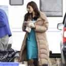 "Eva Mendes on the set of ""Ansiedad"" in Vancouver, March 28, 2011"