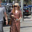 Amy Adams in Long Dress Shopping in Los Angeles - 454 x 619