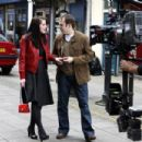 Michelle Ryan Filming The New ITV1 Drama Mr Eleven In North London, UK 2008-03-31