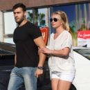 Britney Spears and boyfriend Sam Asghari – Arrives at Le Pain in Beverly Hills - 454 x 681