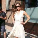 Jennifer Garner in White Dress – Leaves The Greenwich Hotel in New York