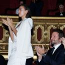 Date night: The happy couple were so impressed they delivered a round of applauds and Irina even gave a standing ovation