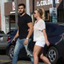 Britney Spears and boyfriend Sam Asghari – Arrives at Le Pain in Beverly Hills - 454 x 537