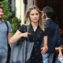 Dianna Agron – Wears summer dress while out and About in New York