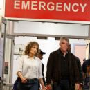 Jennifer Lopez on 'Shades of Blue' set at Metropolitan Hospital in NYC