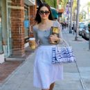 Emmy Rossum In White Skirt Out In Beverly Hills