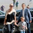 Sharon Stone goes to lunch at Chez Georges restaurant with friends