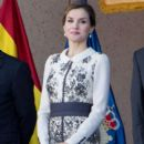 Queen Letizia of Spain Delivers Spanish Flag to National Police