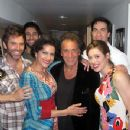 Saundra with Al Pacino and the cast of the Off-Broadway production of Manipulation