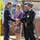 Prince William and wife Kate arrive at Summerfield Community Centre on Friday (August 19) in Birmingham, England