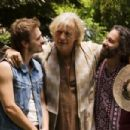 Sam (Paul McCarthy-Boyington), Insley (Rutger Hauer) and Peter (Jon Kellam) in the scene of drama 'Happiness Runs'