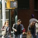 Jill Hennessy and family in West Village