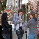 Matt Prokop was spotted on set of his new movie Geek Charming, today April 21.
