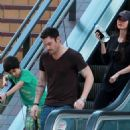 Megan Fox and Brian Austin Green were spotted out shopping in Los Angeles yesterday (February 15).