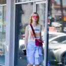 Elle Fanning – Grabs lunch at El Pollo Loco in LA