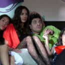 Los Caballeros Las Prefieren Brutas/On set with Patricia Castaneda, Michelle Manterola and Mijail Mulkay, Valerie Dominguez