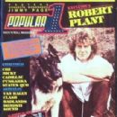 Robert Plant - Popular 1 Magazine Cover [Spain] (February 1982)