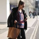 Alessandra Ambrosio – Arriving at Linate Airport in Milan - 454 x 681