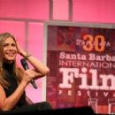 Jennifer Aniston speaks with moderator Pete Hammond at the Montecito Award honoring her at the Arlington Theater at the 30th Santa Barbara International Film Festival on January 30, 2015 in Santa Barbara, California